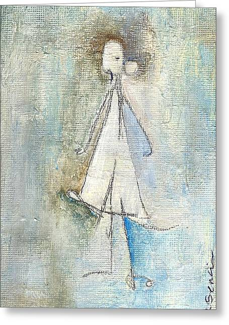 Sad Girl Greeting Card by Ricky Sencion