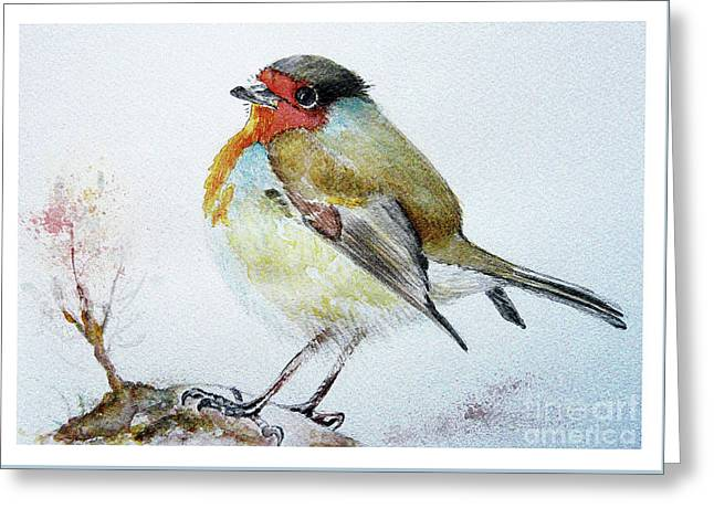 Sad Robin Greeting Card
