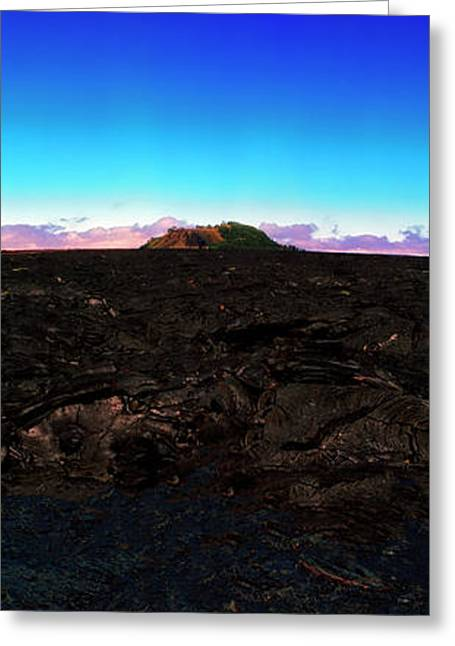 Saddle Road Humuula Lava Field Big Island Hawaii  Greeting Card