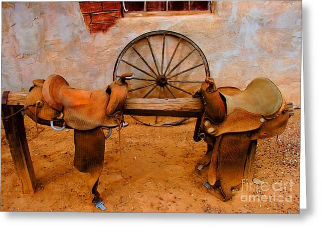 Saddle Town Greeting Card