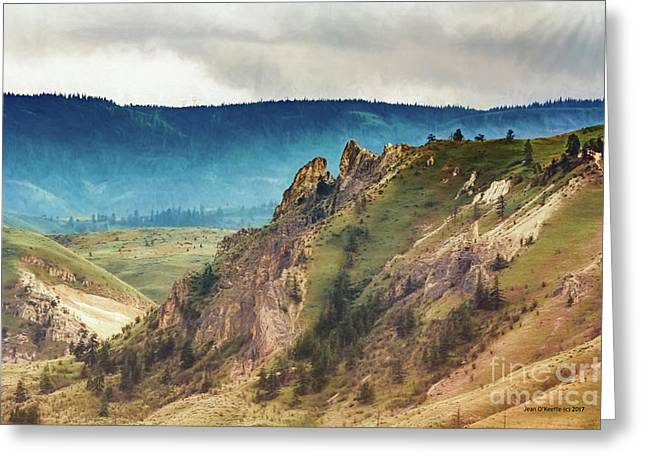 Saddlerock Mountain Greeting Card by Jean OKeeffe Macro Abundance Art