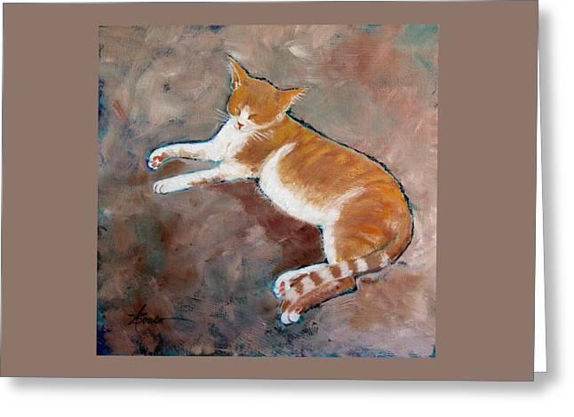 Saddle Tramp- Ranch Kitty Greeting Card
