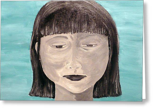 Sadness Greeting Card by Jennifer Hernandez