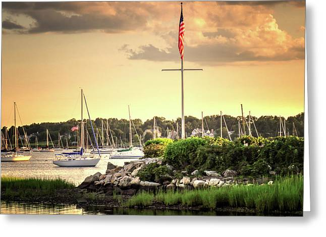 Greeting Card featuring the photograph Safe Harbor Bristol Ri by Tom Prendergast