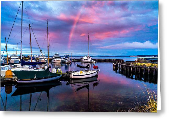 Safe Harbor Greeting Card by TL  Mair