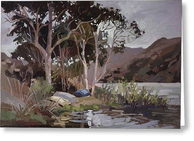 Safe Shelter  - Plein Air - Catalina Island Greeting Card