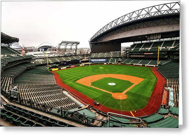 Safeco Field - Home Of The Mariners Greeting Card by Hyun Jae Park