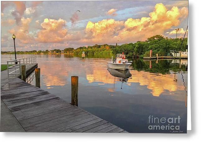 Safety Harbor Fisherman  Greeting Card