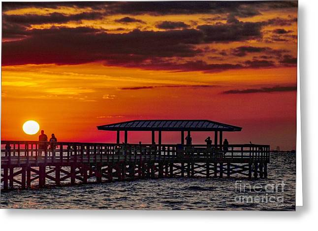 Safety Harbor Sunrise Greeting Card