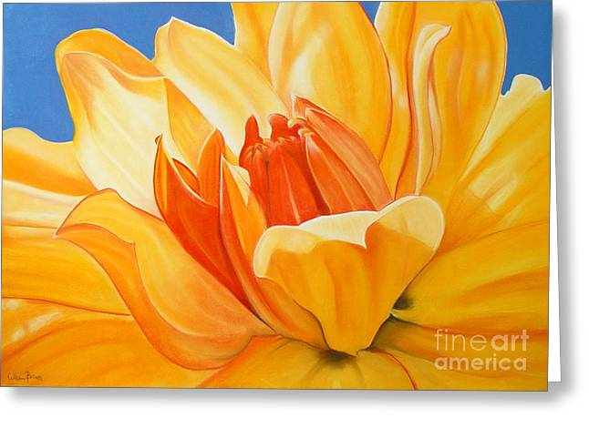 Saffron Splendour Greeting Card by Colleen Brown