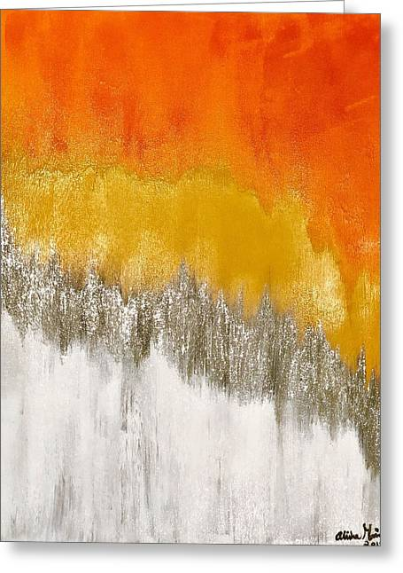 Saffron Sunrise Greeting Card