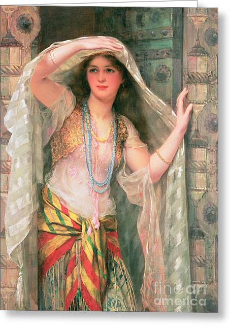 Necklace Greeting Cards - Safie Greeting Card by William Clark Wontner