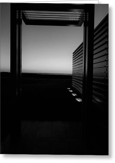 Greeting Card featuring the photograph Sag Harbor Sunset 2 In Black And White by Rob Hans