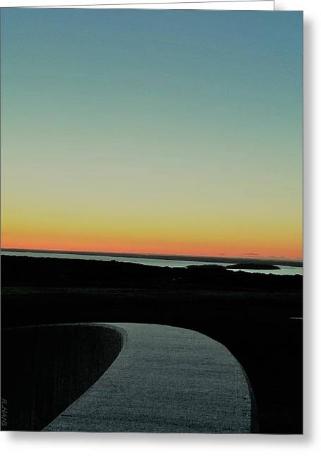 Greeting Card featuring the photograph Sag Harbor Sunset 3 In Black And White by Rob Hans