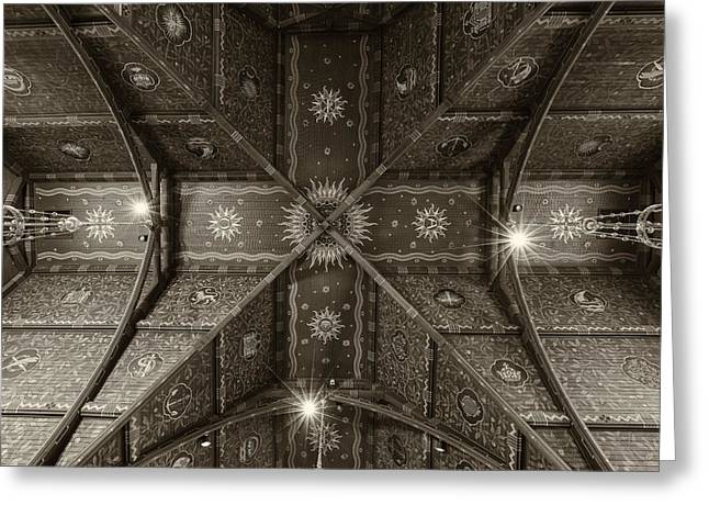 Sage Chapel Ceiling #2 - Cornell University Greeting Card