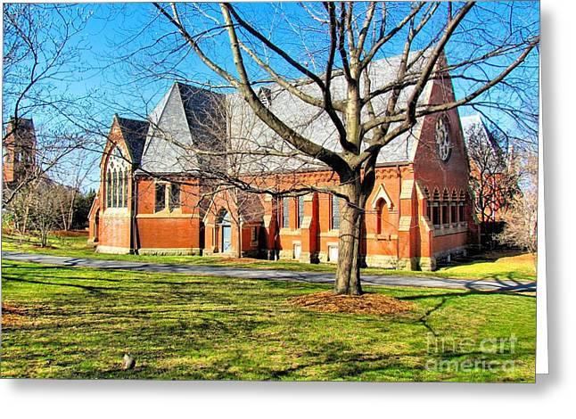 Sage Chapel Cornell University Greeting Card by Elizabeth Dow