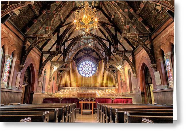Sage Chapel Organ - Opus 1009 Greeting Card by Stephen Stookey
