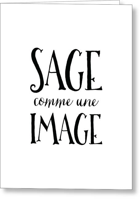 Sage Comme Une Image II Greeting Card by Antique Images