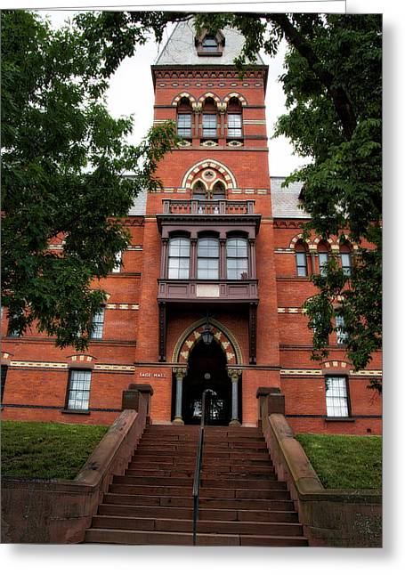 Sage Hall Cornell University Ithaca New York 03 Greeting Card by Thomas Woolworth