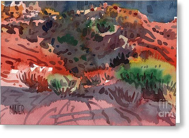 Sand Dunes Paintings Greeting Cards - Sagebrush Greeting Card by Donald Maier
