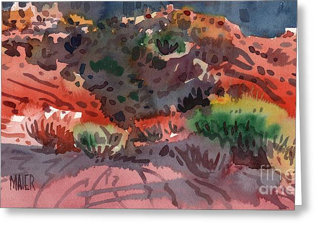 Sagebrush Greeting Card by Donald Maier