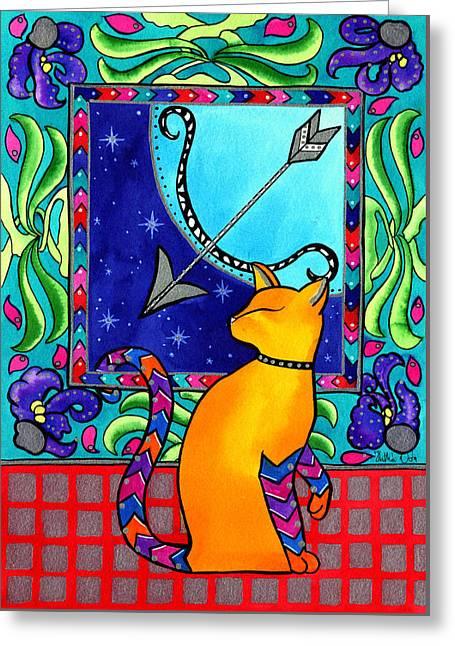 Sagittarius Cat Zodiac Greeting Card