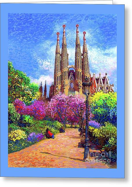 Sagrada Familia And Park,barcelona Greeting Card