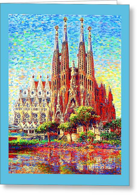 Sagrada Familia Greeting Card by Jane Small