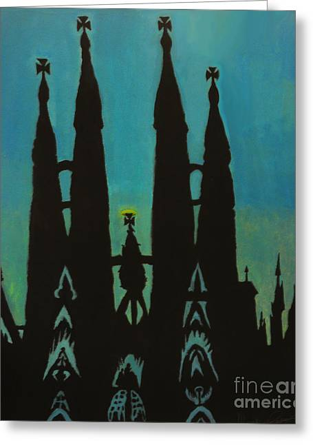 Sagrada Shadows Greeting Card