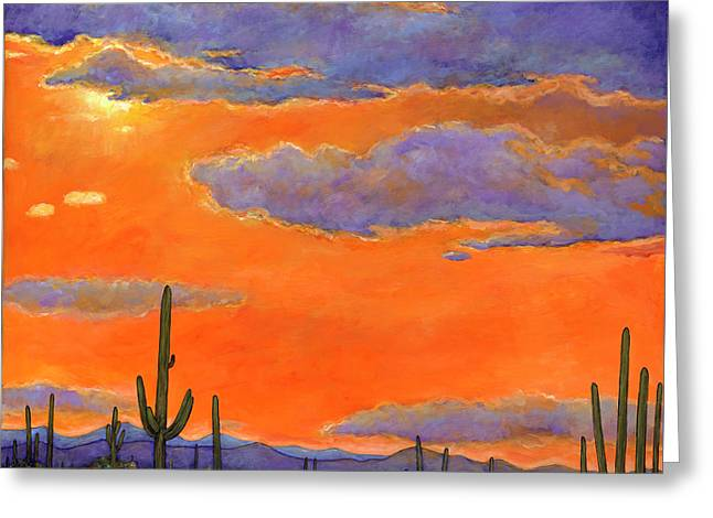 Saguaro Sunset Greeting Card