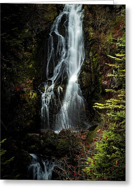 Sahale Falls Greeting Card