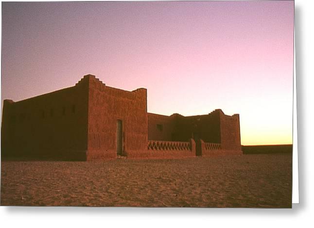 Sahara House Greeting Card by David Halperin