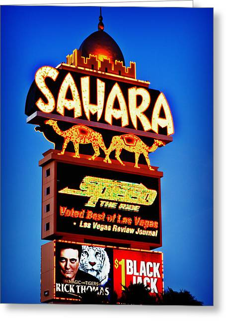 Sahara Sign Greeting Card by James Marvin Phelps