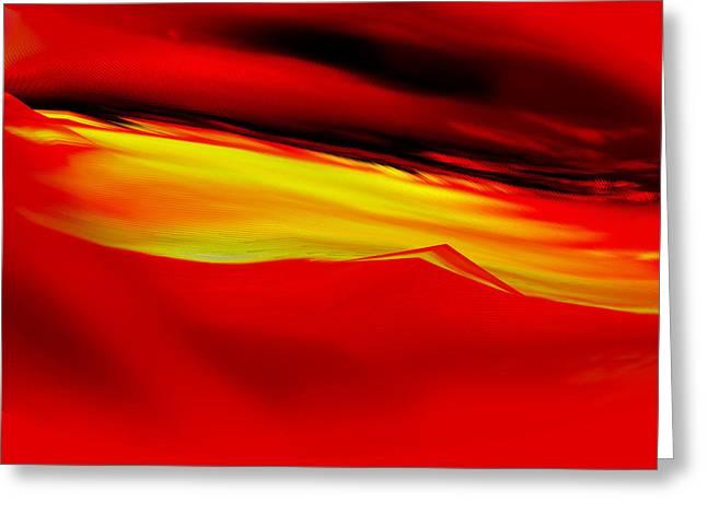 Sahara Sunrise Greeting Card by Eugenia Martini-Jarrett