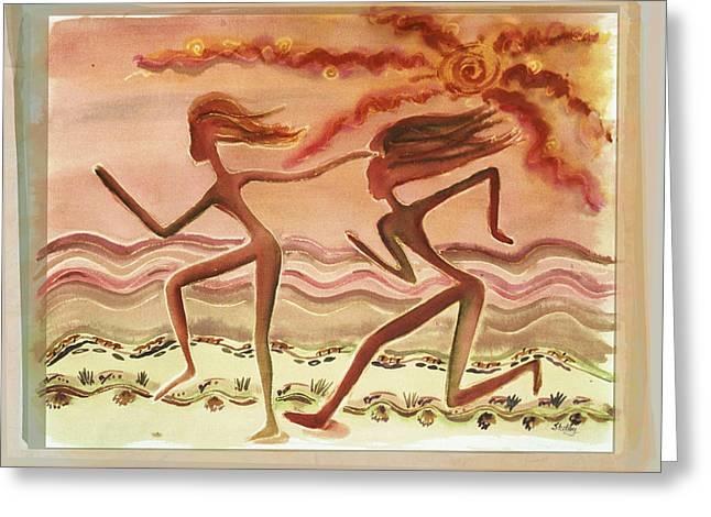 Saharan Runners Greeting Card
