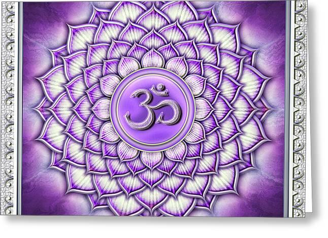 Sahasrara Chakra - Artwork IIi Greeting Card by Dirk Czarnota