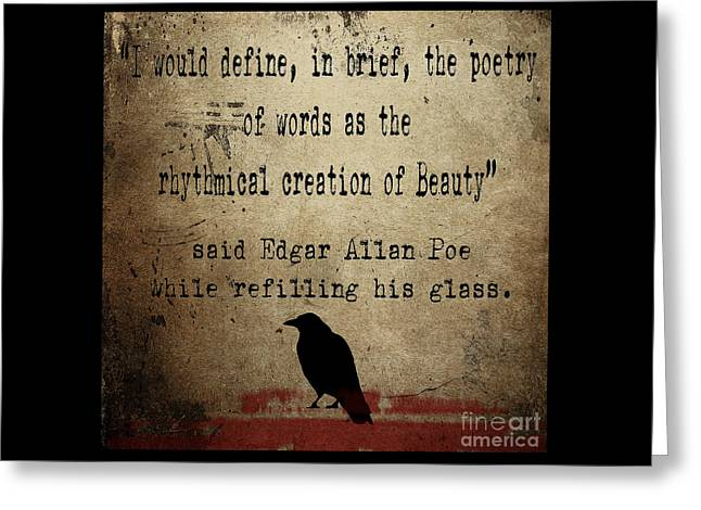 Said Edgar Allan Poe Greeting Card by Cinema Photography