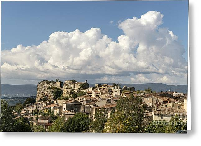Greeting Card featuring the photograph Saignon Village Provence  by Juergen Held