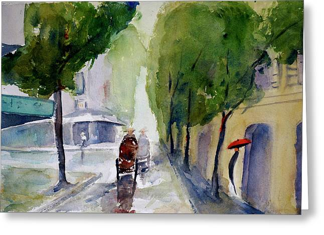 Saigon 1967 Tu Do Street Greeting Card by Tom Simmons