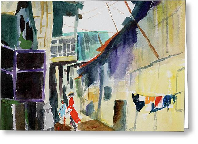 Saigon Alley Greeting Card by Tom Simmons