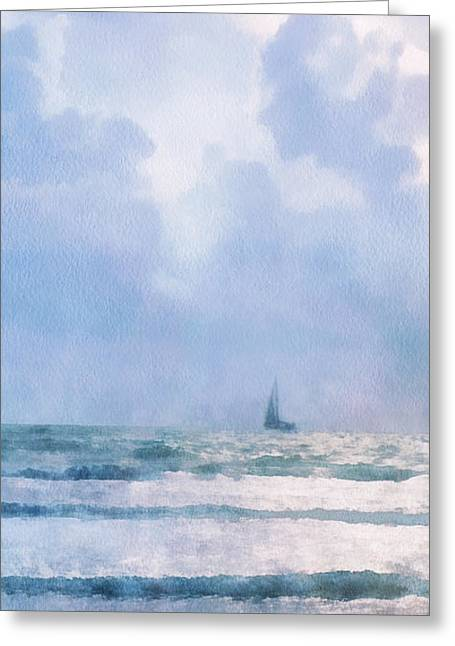 Sail At Sea Greeting Card by Francesa Miller