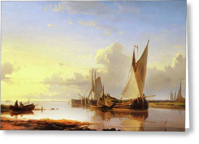 Sail Away At Sunset Greeting Card