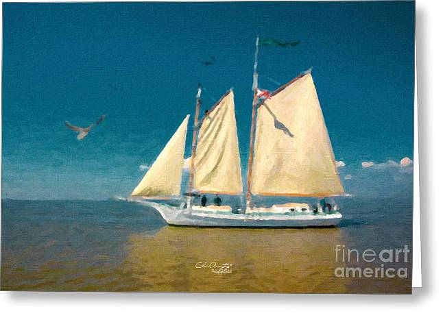 Greeting Card featuring the painting Sail Away by Chris Armytage