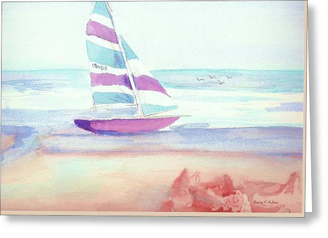 Greeting Card featuring the painting Sail Away by Denise Fulmer