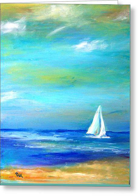 Sail Away In Tropical Waters Greeting Card