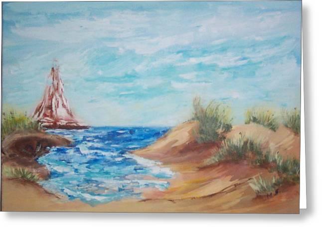 Sail Away Greeting Card by Mary Sedici