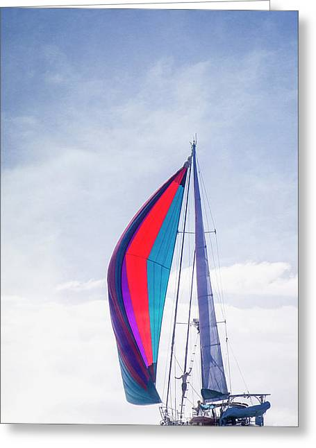 Greeting Card featuring the photograph Sail Away by Scott Kemper