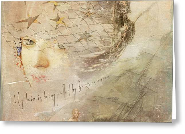 Greeting Card featuring the digital art Sail Away by Sue Collura