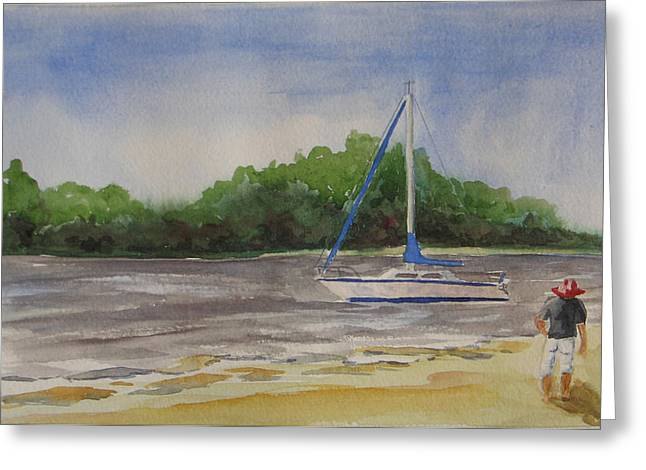 Sail Aweigh Greeting Card by Libby  Cagle