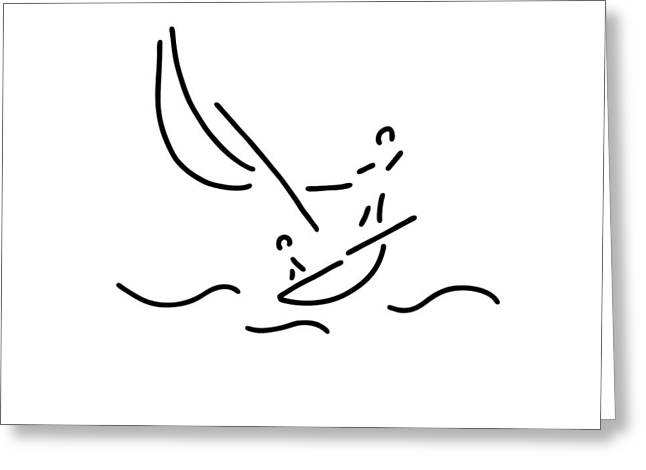 Sail Boat Sports Sailings Greeting Card